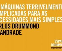 """Verso do poema """"O sobrevivente"""", de Carlos Drummond de Andrade"""