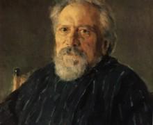 Nikolai Leskov. Pintura de Valentin Serov
