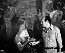 Alexandre Eulalio e tela O último baile, de Aurelio de Figueiredo, Museu Histórico Nacional, RJ, 1984.