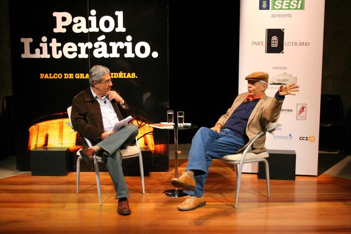 José Castello e Antônio Torres. Foto: Matheus Dias