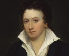 Percy Bysshe Shelley por Alfred Clint