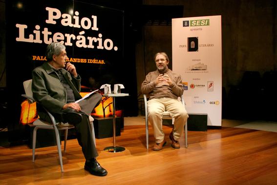 José Castello e Marco Lucchesi. Fotos: Matheus Dias