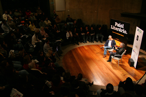 José Castello e Nelson Motta no Paiol Literário. Fotos: Matheus Dias