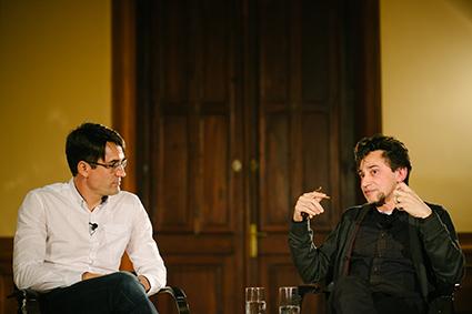 Rogério Pereira e Eucanaã Ferraz no Paiol Literário. Fotos: Eduardo Macarios