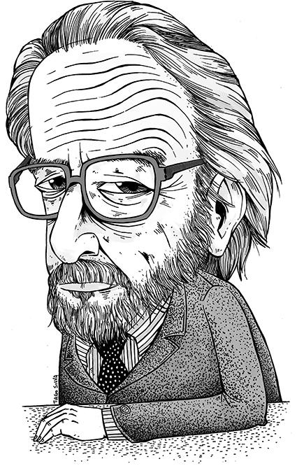 Ilustração: José Donoso por Tiago Silva