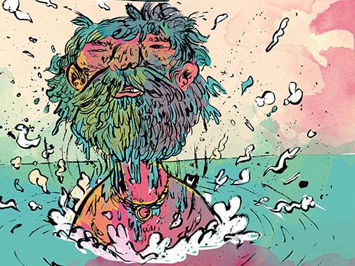 Detalhe da ilustração de Pedro Cobiaco para a capa da edição de outubro