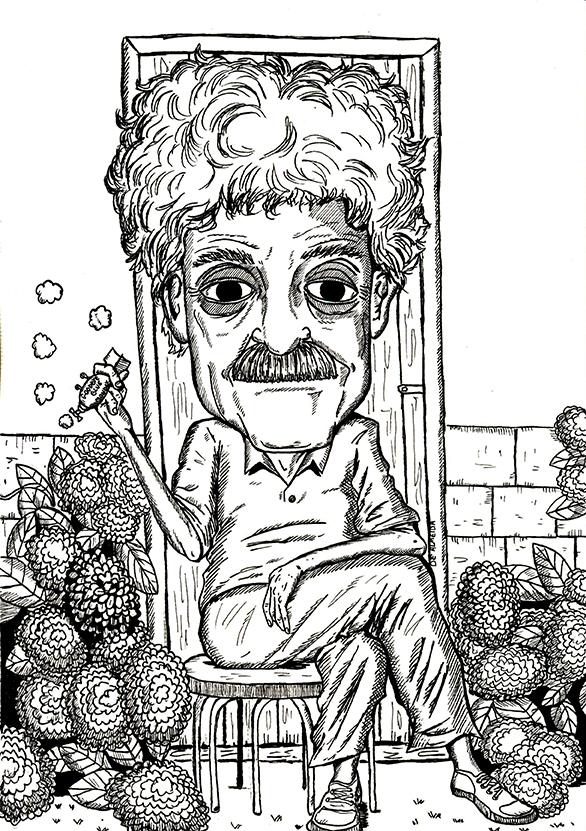 Kurt Vonnegut por Dê Almeida