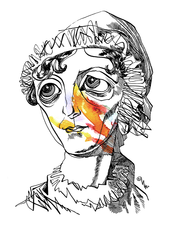 Jane Austen por Osvalter