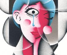 Arte da capa da edição impressa de fevereiro