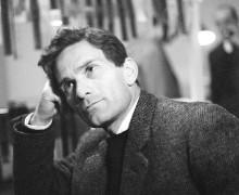 """Portrait de Pier Paolo Pasolini au moment du tournage du film """"La rabbia"""" (La rage) en1963. © Dondero/ Leemage"""