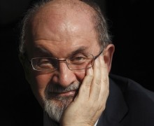 Author Salman Rushdie poses for a photograph after an interview with Reuters in central London, in this October 8, 2010, file photo. Rushdie's memoir of more than nine years in hiding after Iran's supreme leader issued a death sentence against him hits the shelves on September 18, 2012, ending the wait for his account of a furore that has echoes across the world today. REUTERS/Andrew Winning/Files (BRITAIN - Tags: ENTERTAINMENT HEADSHOT SOCIETY PROFILE) BOOKS-SALMANRUSHDIE-MEMOIR