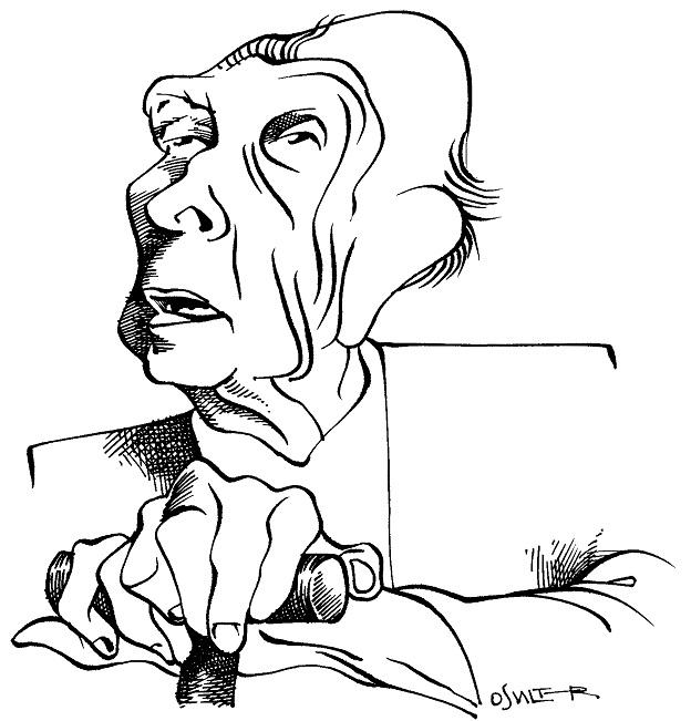 Ilustração: Jorge Luis Borges por Osvalter