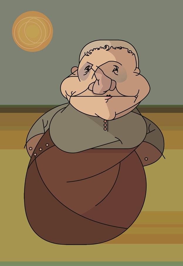Ilustração: Gertrude Stein por Fábio Abreu