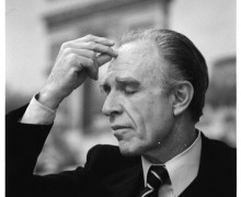 22 May 1975 --- Argentine novelist Adolfo Bioy Casares (1914-1999) won the Cervantes literary award in 1990. --- Image by © Sophie Bassouls/Sygma/Corbis