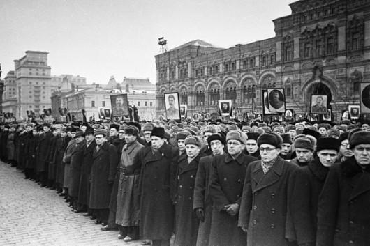 Funeral de Joseph Stálin, em 1953.