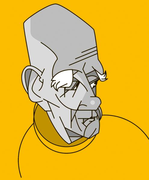 Ilustração: Rubem Fonseca por Fabio Abreu