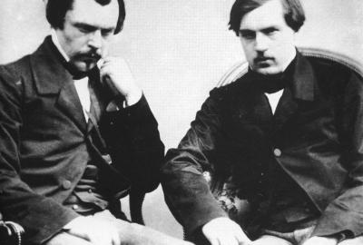 """Os irmão Goncourt, autores de """"Diário — Memórias da vida literária"""""""