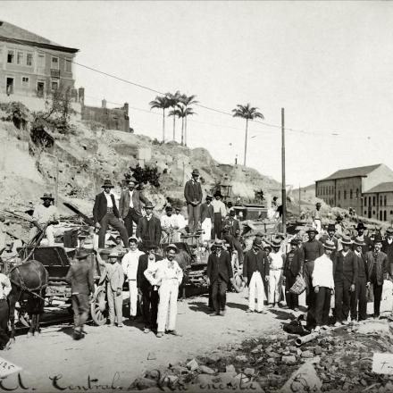 Morro do Castelo, no Rio de Janeiro, no início do século 20