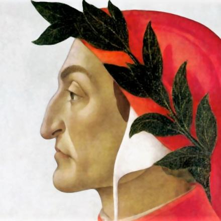 O poeta italiano Dante  Alighieri, morto há 700 anos