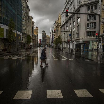 Gran Via, em Madri (Espanha). Foto: Samuel Sanchez / reprodução