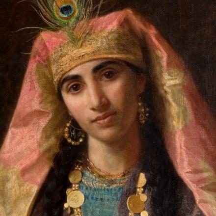 """Sherazade, narradora do """"Livro das mil e uma noites"""", em pintura de Sophie Anderson"""