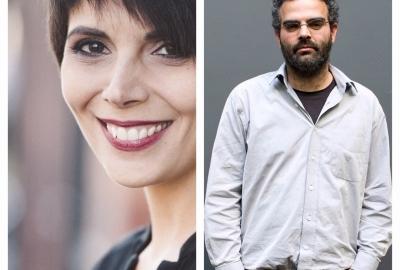 Os autores Adriana Lisboa e Gonçalo M. Tavares
