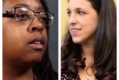 As autoras Cidinha da Silva e Ariana Harwicz, que encerram ciclo de debates