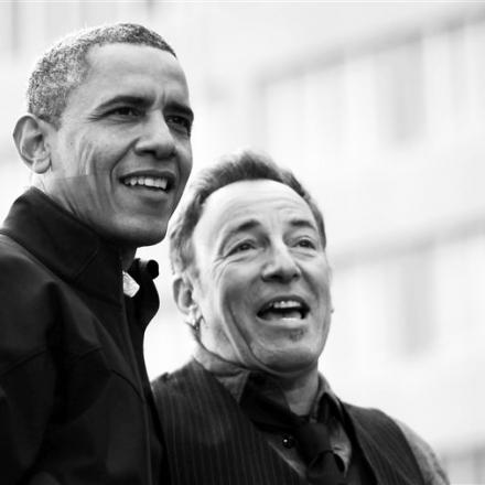 O ex-presidente Barack Obama e o músico Bruce Springsteen, autores de