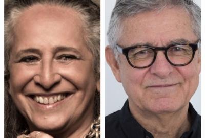 A cantora Maria Bethânia e o jornalista e escritor Humberto Werneck