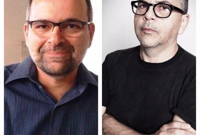 Os autores Carlos Marcelo e Fernando Bonassi