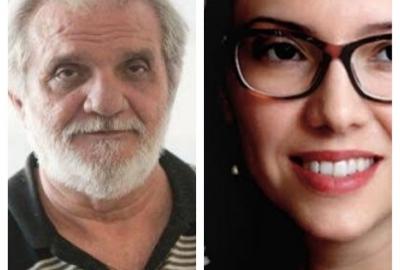 Os autores Raimundo Carrero e Laura Erber