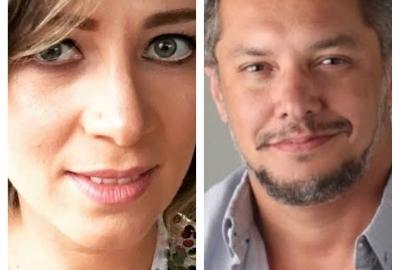 Chris Fuscaldo e Julio Maria, que comandam o podcast