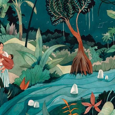 Ilustração de Luisa Rivera para a edição comemorativa de 50 anos de Cem anos de solidão | Penguin Random House