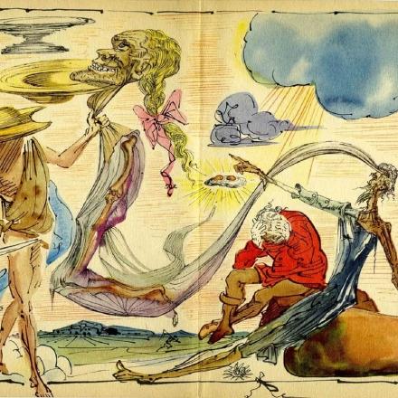 Dom Quixote em ilustração de Salvador Dalí