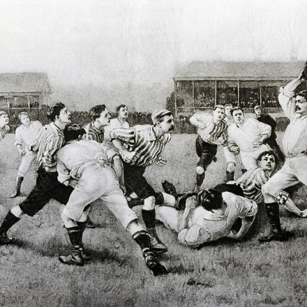 Early American Soccer Match