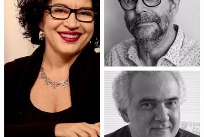 Ao autores Viviane Mosé, Marçal Aquino (acima) e Milton Hatoum