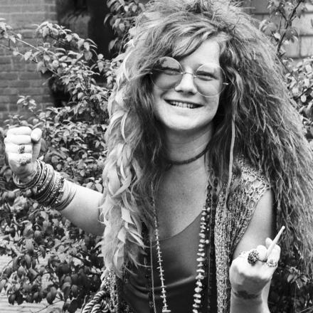 Janis Joplin morreu em 4 de outubro de 1970, aos 27 anos. Foto: David Gahr