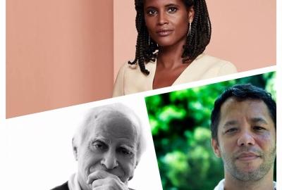 Os autores Djamila Ribeiro, Ignácio de Loyola Brandão (à esquerda) e Itamar Vieira Junior participam do projeto #EsquentaJabuti