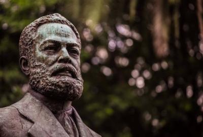 Busto do abolicionista e escritor Luiz Gama, na cidade de São Paulo
