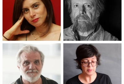 De cima para baixo, os autores Priscila Gontijo, Cristovão Tezza, Raimundo Carrero e Angélica Freitas
